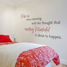 Wake Up Every Morning With The Thought That Quote Wall Decals Stickers