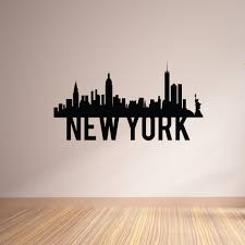 New York City Skyline Vinyl Wall Decal The Decal Bros