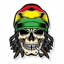 skull rasta vector logo premium vector