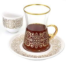 sarmasik turkish tea glasses with
