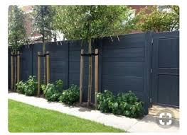 Matt Black Horizontal Fence Backyard Fences Fence Design Privacy Fence Designs