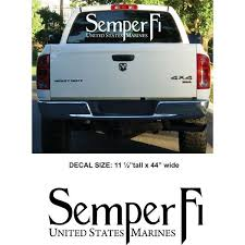 Semper Fi Large Back Window Auto Decal Auto Accessories Sgt Grit Marine Corps Store Marine Corps Semper Fi Car Accessories