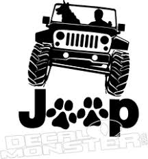 Jeep Paw Print Tracks Decal Sticker Decalmonster Com