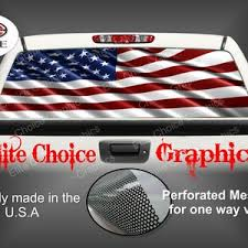 Patriotic American Flag Rear Window Graphic Tint Decal Sticker Etsy