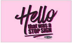Amazon Com Cafepress Clueless Hello Stop Sign Rectangle Bumper Sticker Car Decal Home Kitchen