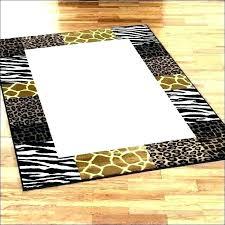zebra print rug animal print runner rug