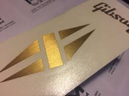 Gibson Lp Diamond Metallic Headstock Logo Vinyl Sticker Hmcustom Online Shop