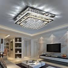 rectangular crystal ceiling light led