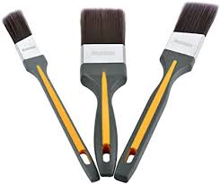 Maxman Paint Brushes Angle Sash Paintbrush Trim Paint Brushes For Walls Furniture Paint Brush Set With Rubber Grip Handle For Walls Furniture Trim Cabinets Doors Fences 3 Pack Amazon Co Uk Diy Tools