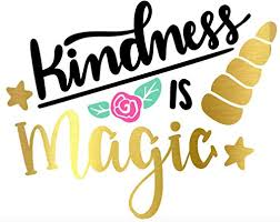 Amazon Com Kindness Is Magic Unicorn Permanent Vinyl Decal Gold Rainbow Girly Punderful Unique Stickers Princess Sparkly Pony Horse Permanent Swell Bottle Sticker For Water Bottle Laptop Wine Glass Handmade