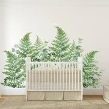 Fern Eucalyptus Wall Decal Set Plant Decal Set Project Nursery