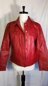 women s metrostyle leather jacket red