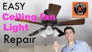 ceiling fan light repair home repair
