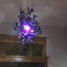 vintage design purple color art glass