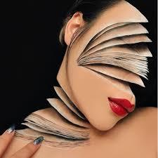 makeup artist creates optical illusion
