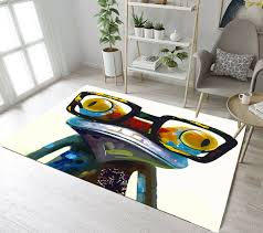 Floor Rugs Mat Big Eye Glasses Frog Kids Bedroom Carpet Living Room Area Rugs For Sale Online