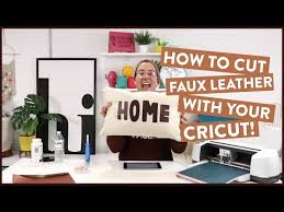 cut faux leather with your cricut