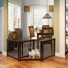Indoor Pet Gate Wood Dog Fence 3 Panel Folding Zig Zag Kids Children Wooden For Sale Online