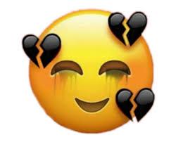sad face broken heart emoji
