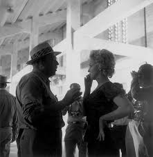 Marilyn with director Joshua Logan on the set of Bus Stop, 1956 ...