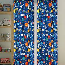 Amazon Com Kids Boys Window Curtain Panels With Tiebacks 4 Piece Set Space Planets Rockets Rocketship Multicolor Boys Kids Print Window Curtain For Boys Kids Blue Green Teens Kids Room Decor Space Curtains