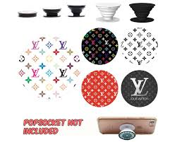 Lv Pattern Popsocket Decal Sticker Phone Grip And Holder Decal Sticker Phone Stand Decal And Sticker Pop Socket Not Included By 0hiraeth0 On Etsy