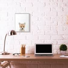 The Kids Room By Stupell 16 In X 20 In Baby Fox By Leah Straatsma Framed Wall Art Aap 350 Gff 16x20 The Home Depot