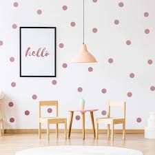 Amazon Com Outus 200 Pieces Wall Decal Dots Posh Dots Easy To Peel And Stick Removable Metallic Vinyl Polka Dot Decor Round Circle Wall Decal Stickers For Festive Baby Nursery Room Rose Gold