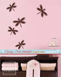 Dragonflies Wall Decal Dragon Fly Wall Decal Dragonfly Wall Etsy