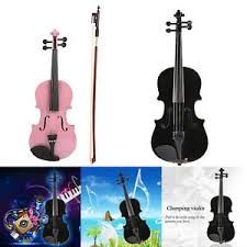 acoustic violin fiddle with case bow
