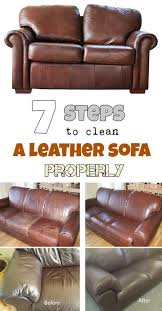 7 steps to clean a leather sofa