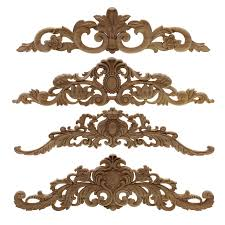Hot Discount 88cb2e Rectangle Carving Natural Wood Appliques For Furniture Cabinet Unpainted Wooden Mouldings Decal Vintage Home Decor Decorative Cicig Co