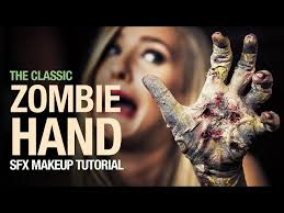 zombie hand special fx makeup tutorial
