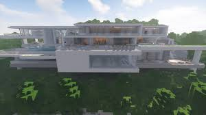modern cliff house minecraft map