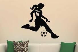 Girls Sports Soccer Vinyl Wall Decal Sticker Custom Name Jersey Number Wall Decals Stickers Vinyl Walldecal Sticker Aliexpress