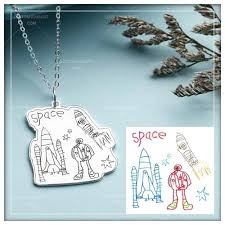 custom photo necklaces pendants drawing