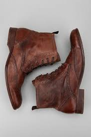brown leather ankle boot