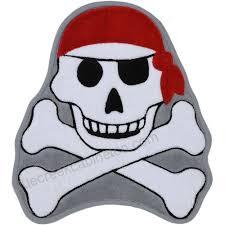 pirate skull and crossbones bath mat