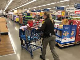 with a cop at meijer in west bend