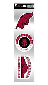 Arkansas Razorbacks Retro Throwback Spirit Decals Sticker Sheet University Of Ebay