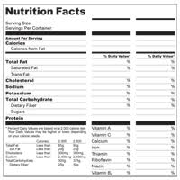 make your own nutrition facts labels