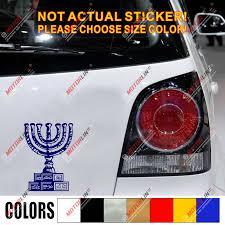 Menorah Decal Sticker Car Vinyl 7 Branches Temple Israel Jew Jewish No Bkgrd Car Stickers Aliexpress