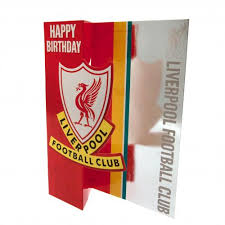 liverpool f c birthday card football