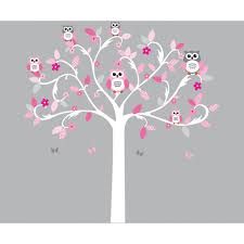 Girls Will Love This Scroll Tree Wall Stickers With Owl Stickers