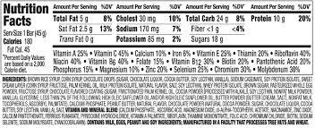 perfect bar nutrition nutritionwalls