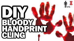 Diy Bloody Handprint Cling Man Vs Pin 35 Youtube