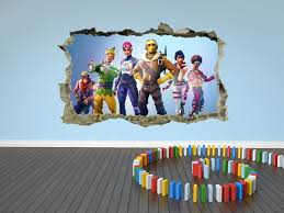 Fortnite Wall Sticker 3d Kids Cracked Smashed Decal Home Wall Art Bedroom Ebay Kids Room Wallpaper Room Decals Childrens Wall Art