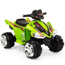 Best Choice Products Kids 12v Battery Powered Ride On 4 Wheeler Atv W Led Headlights Forward And Reverse Gears Green Walmart Com Walmart Com