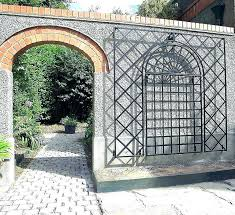 garden wall trellis decorating gate