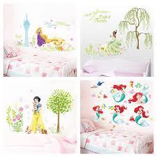 Cartoon Disney Snow White Tiana Princess Flowers Garden Wall Stickers For Kids Room Decoration Diy Mural Art Girl S Wall Decals Wall Stickers Aliexpress